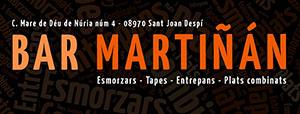 Bar Martiñán Sant Joan Despí Logo